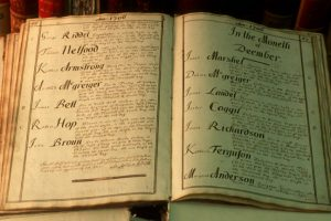 An old book of surnames