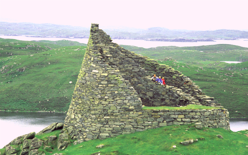 Ruins of Dun Carloway Broch, dating from the Iron Age, on the Isle of Lewis