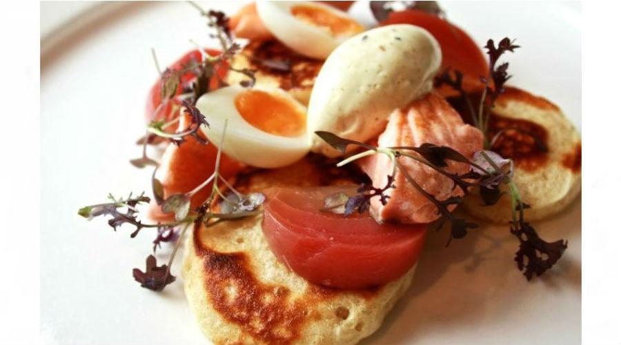 Scotch Pancakes with Rainbow Trout @ Graeme Pallister