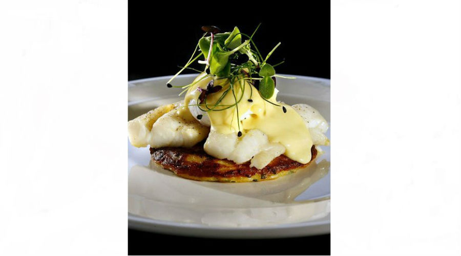 Tattie and Herb Pancake with Smoked Haddock & Poached Egg @ Nick Nairn