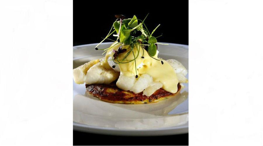 Tattie and Herb Pancake with Smoked Haddock & Poached Egg @ Nick Nairn