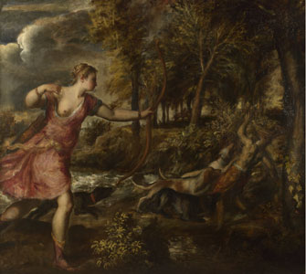 Death of Actaeon by Titian © National Gallery, London