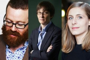 (L-R) Frankie Boyle, A. L. Kennedy and Eleanor Catton all appear at this year's Aye Write! festival, April 4-12 in Glasgow