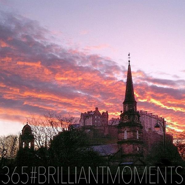 Edinburgh Castle at dawn