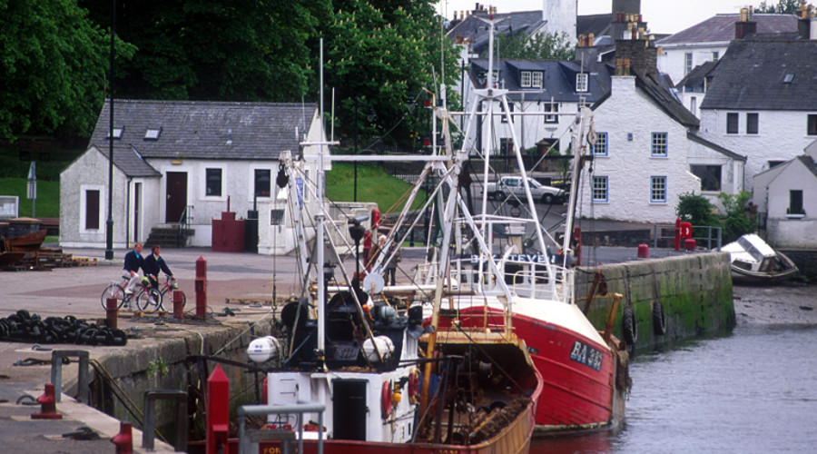 The harbour town of Kirkcudbright, Dumfries & Galloway