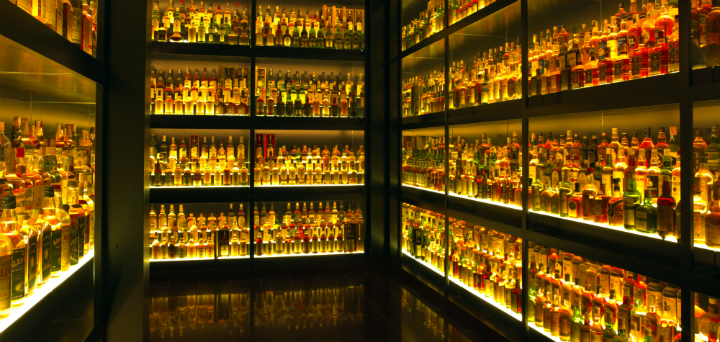 The Collection Room at the Scotch Whisky Experience, Edinburgh