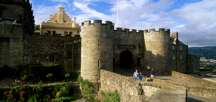 The exterior of Stirling Castle