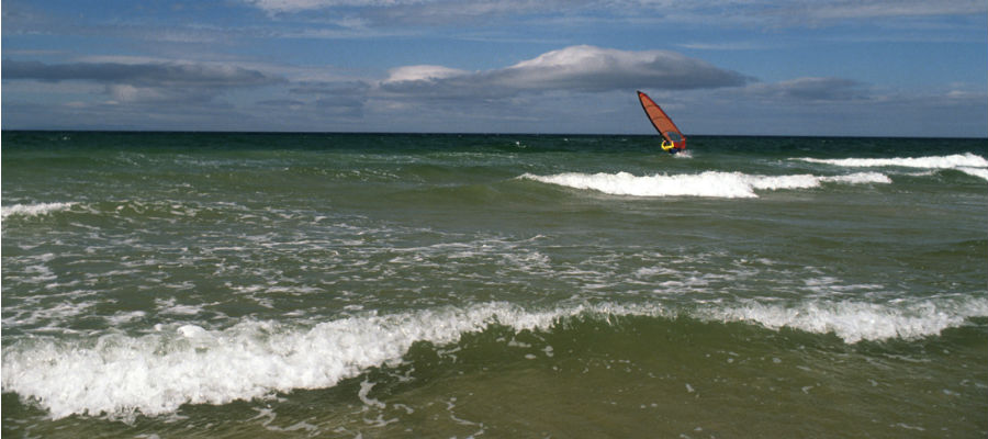 Surfing on Nairn beach