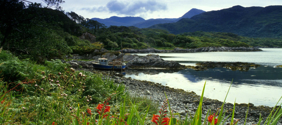 The beach of Loch Nan Uamh near Arisaig, Highlands