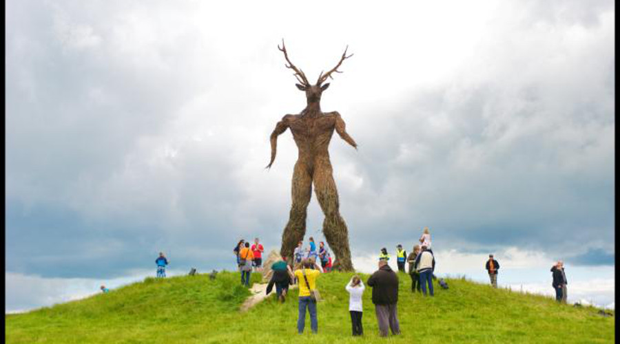 The 40 ft statue from the Wickerman Festival 2011