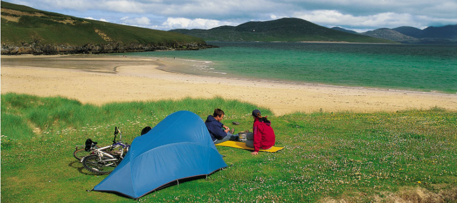 Wild camping on Isle of Harris