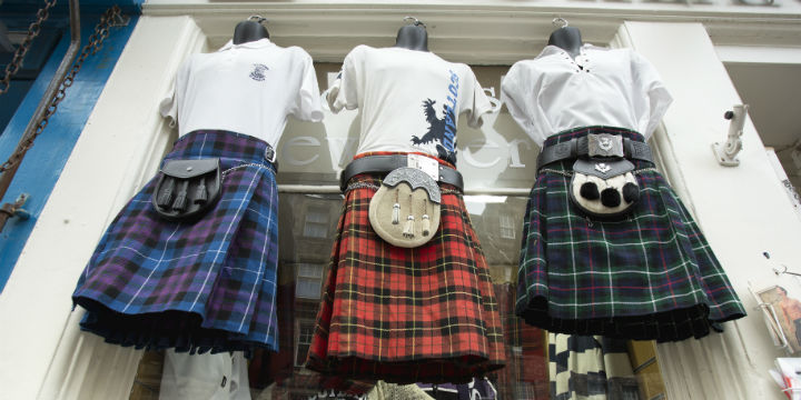 Kilts on sale in Edinburgh