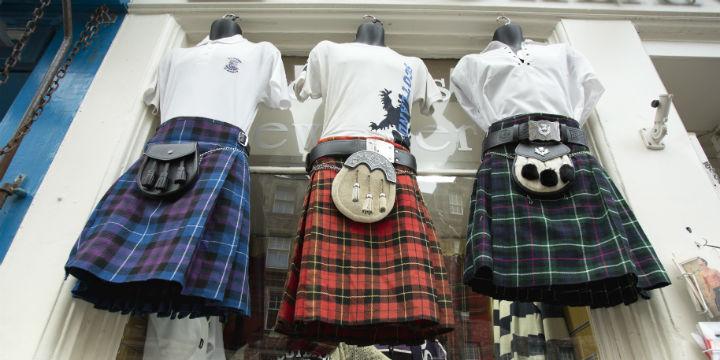 Kilts on sale in Edinburgh