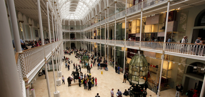 The Grand Gallery in the National Museum of Scotland, Edinburgh