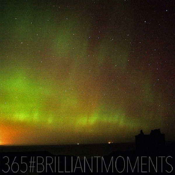 Northern Lights over Dunnottar Castle, near Stonehaven