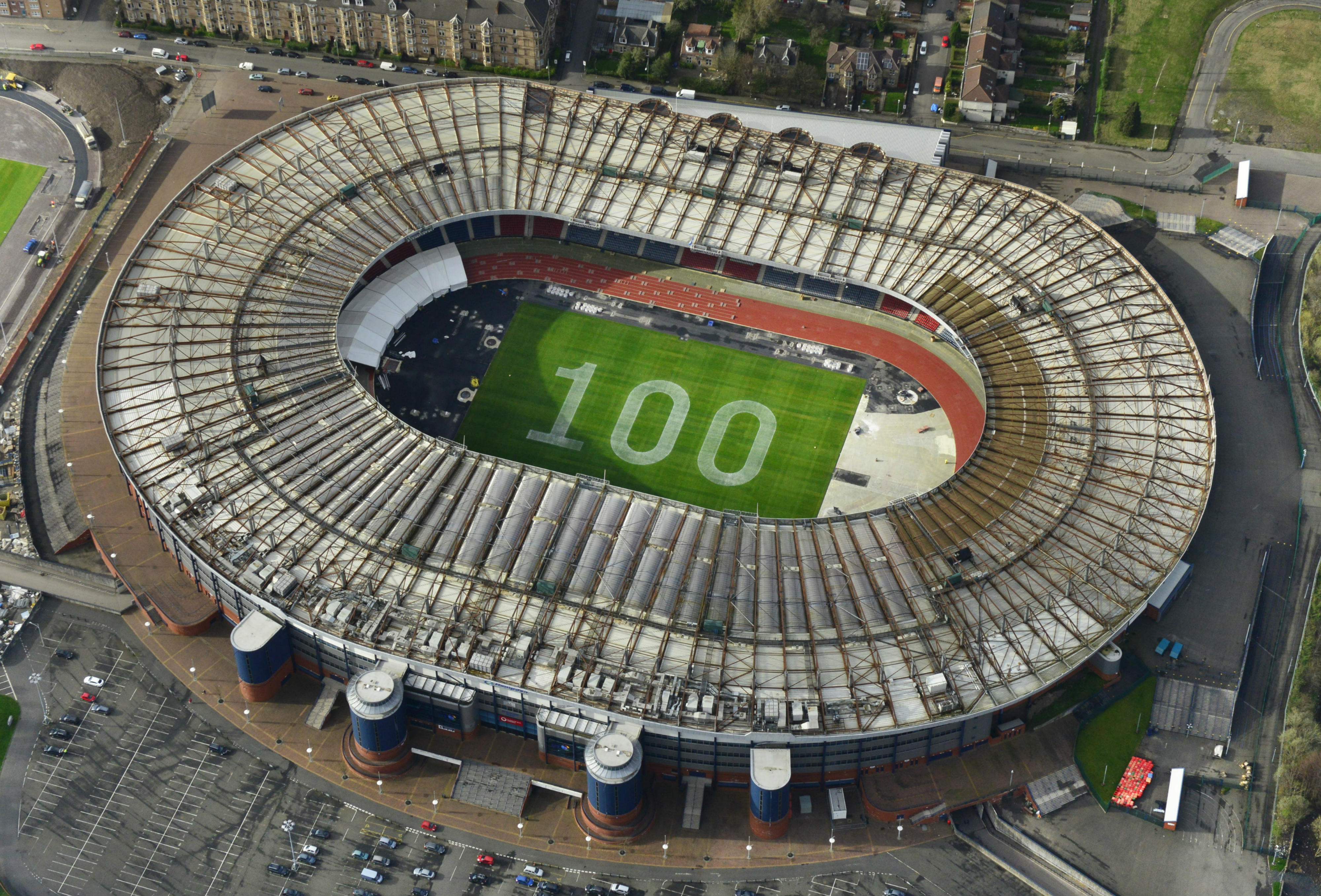 Hampden Stadium celebrates 100 days to go before the XX Commonwealth Games