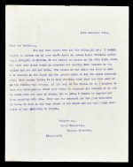 The letter confirming Buchanan's death