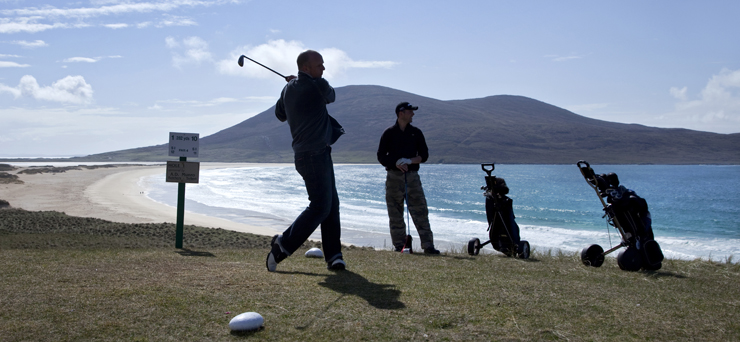The Isle of Harris Golf Club's course at Scarista, Isle of Harris, Outer Hebrides.