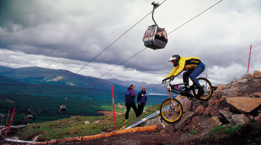 The World Cup Downhill track at the Nevis Range