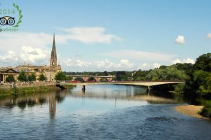 The city of Perth and the river Tay