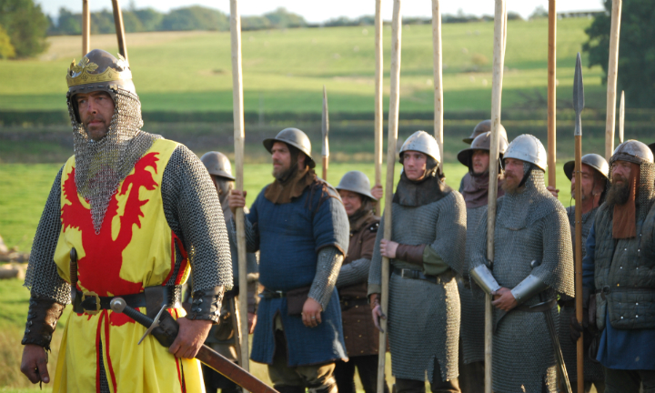 Armoured soldiers led by Robert the Bruce