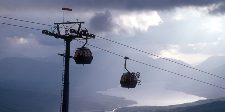 The cable car at Nevis Range, near Fort William