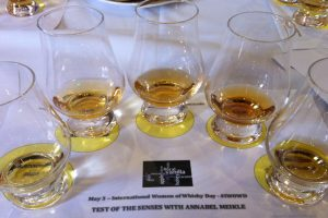 Drams lined up for Test of the Senses Aberlour Hotel 3 May 2014 © Edinburgh Foody
