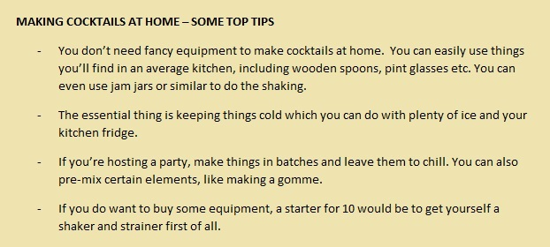 cocktail tips