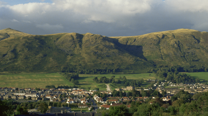 Views over Tillicoultry, Clackmannanshire