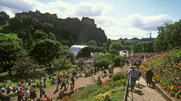 Ross Bandstand In Princes Street Gardens, Edinburgh