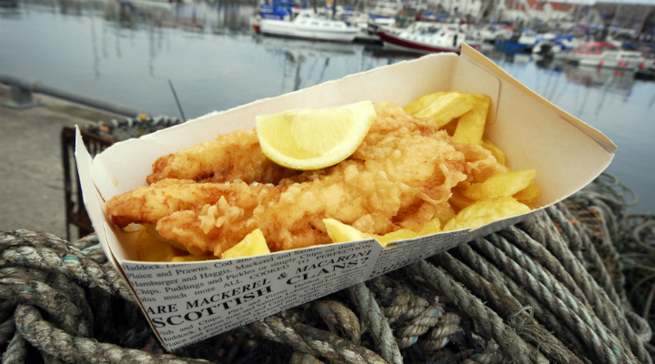 Fish and chips from Anstruther