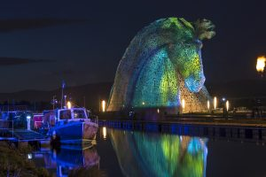 The Kelpies at night © Kenny Lam