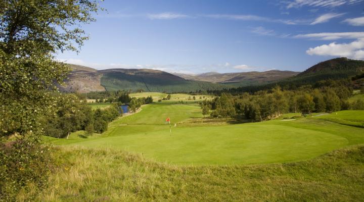 2nd hole at Braemar Golf Club, Aberdeenshire