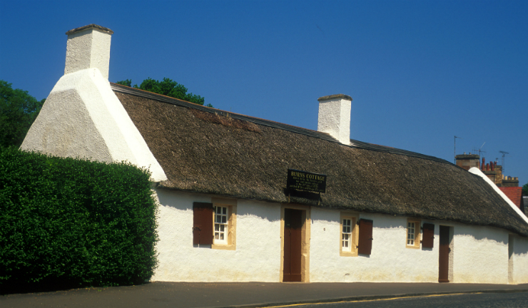 Burns Cottage in Alloway, South Ayrshire