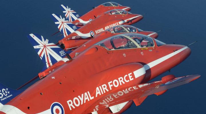 Red Arrows in flight © Mr Jamie Hunter