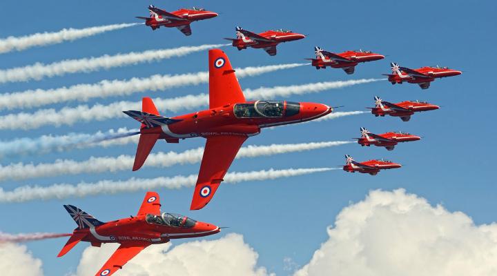In formation © Mr Jamie Hunter