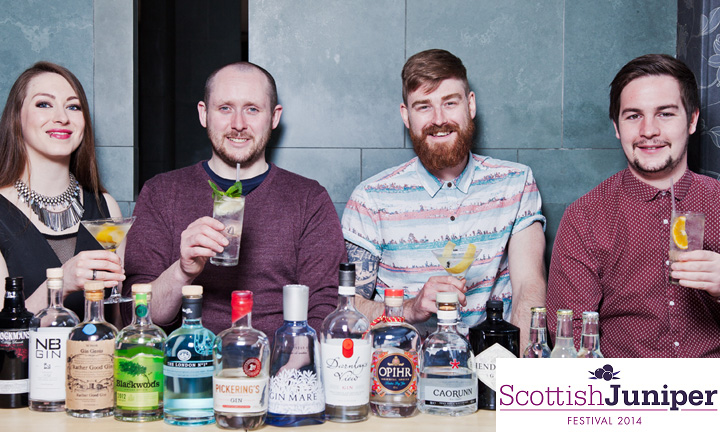 Gin tasting at the Scottish Juniper Festival, Edinburgh