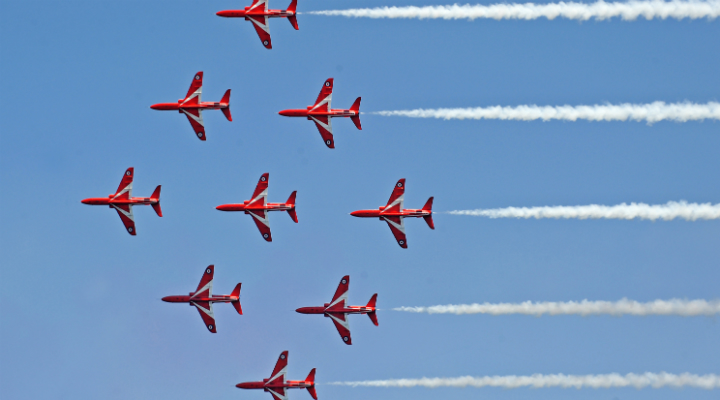 The Red Arrows in training © Mr Jamie Hunter