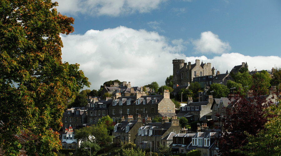 The historic town of Selkirk in the Scottish Borders