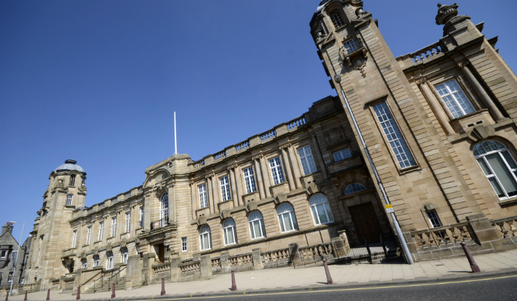The Town Hall in Hamilton, South Lanarkshire