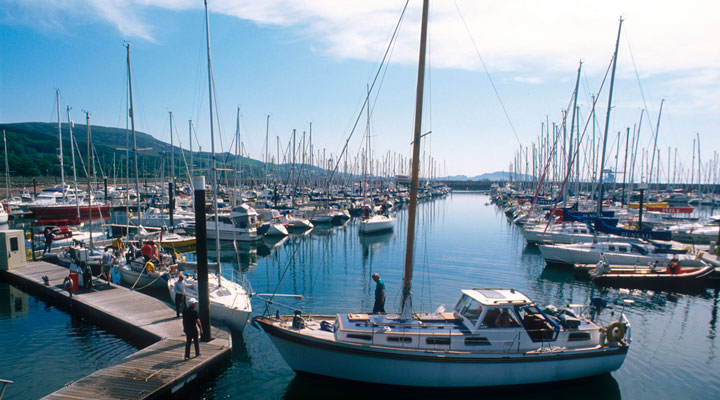 The marina at Largs