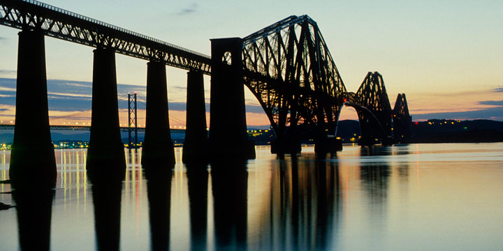 View of the Forth Rail Bridge from South Queensferry