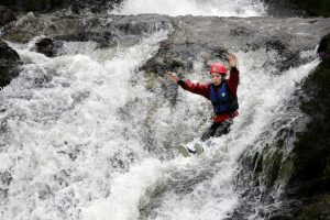 River canyoning on the Isle of Arran