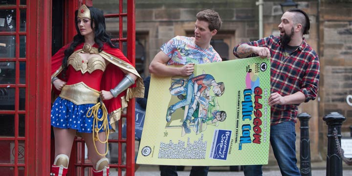 Promotional image for Glasgow Comic Con 2014