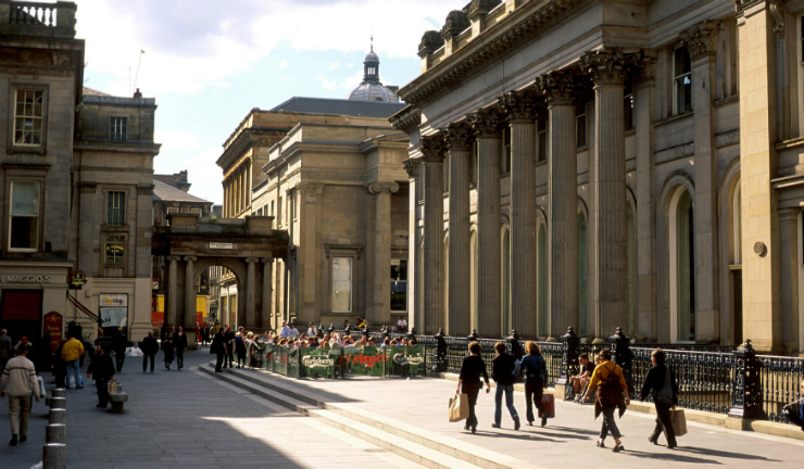 Glasgow Museum of Modern Art (GOMA) and Royal Exchange Square