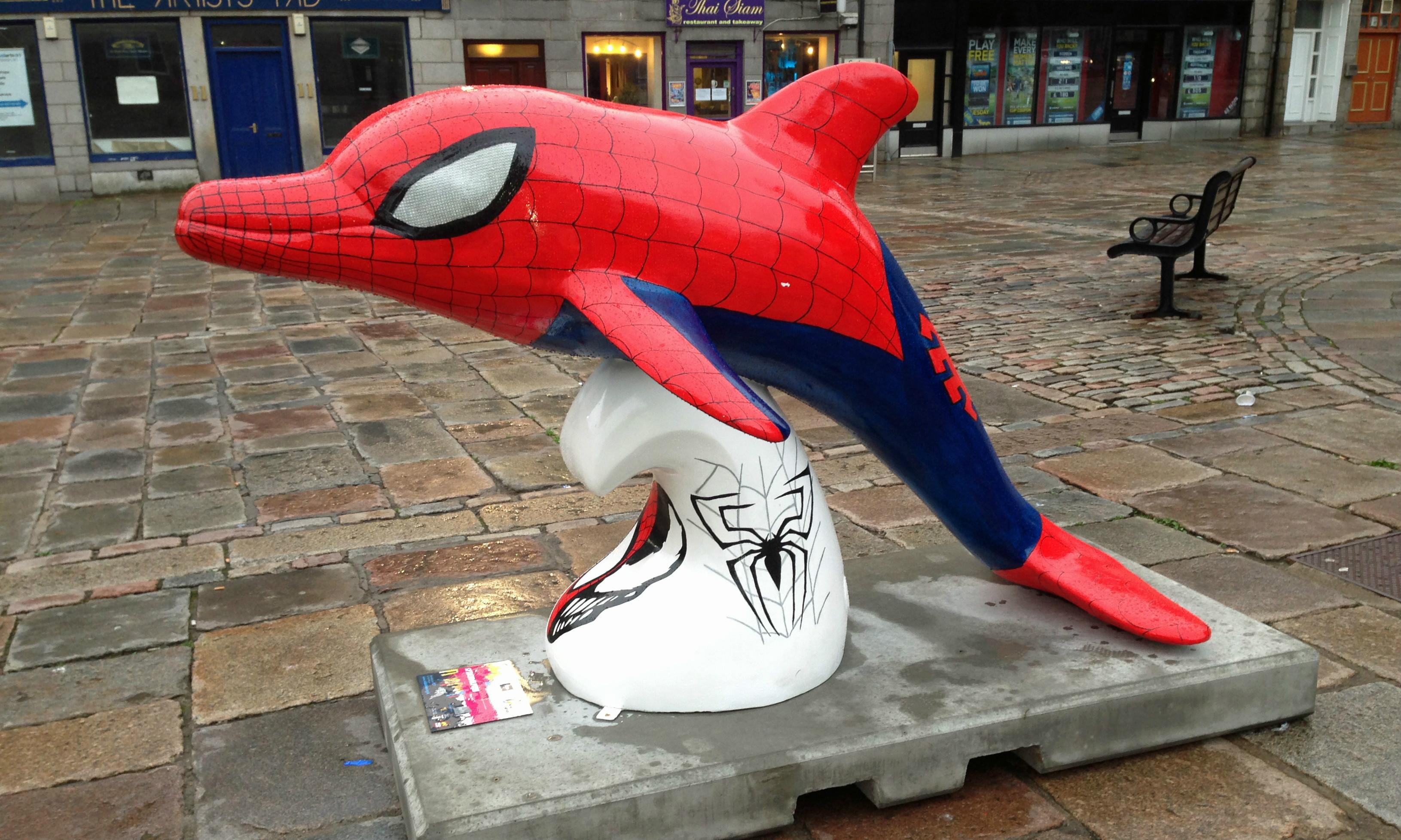 'Spider Dolphin', one of Aberdeen's Wild Dolphins. © Visit Aberdeen.