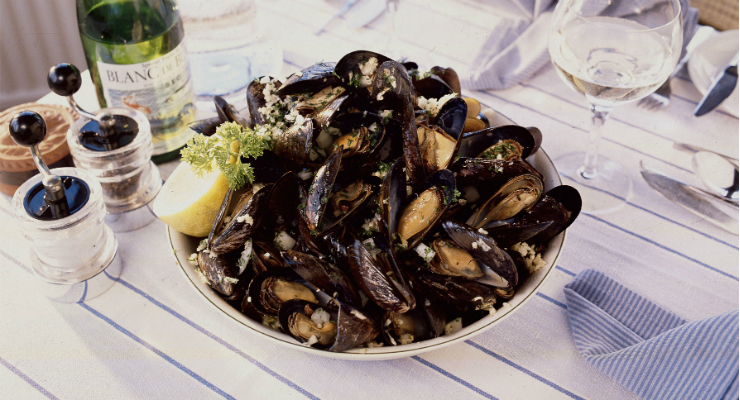 Fresh mussels from Crinan, Argyll & The Isles