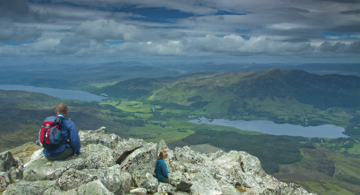 The view from the top of Schiehallion, Perthshire