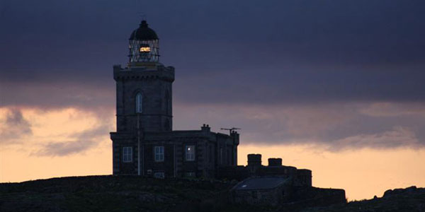 The main lighthouse on the Isle of May