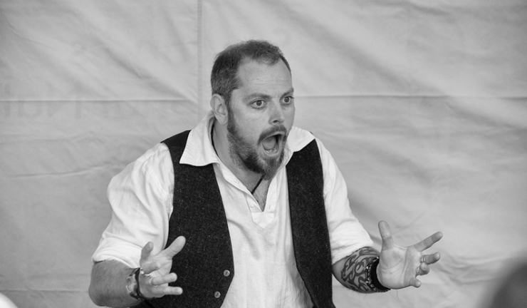 Storyteller Calum Lykan of Brave and Free: Traditional Tales of Scotland